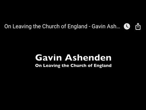 On Leaving the Church of England - Gavin Ashenden