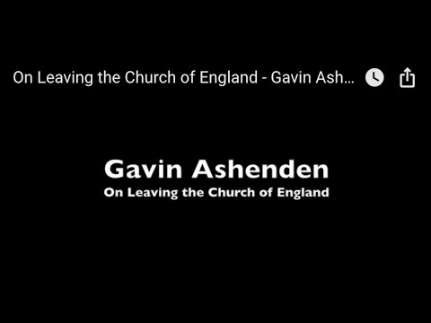 On Leaving the Church of England - Gavin Ashenden