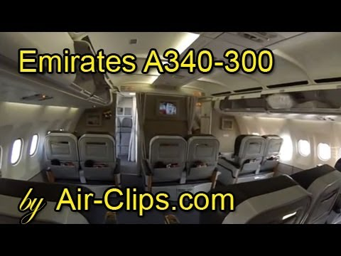 Emirates Airlines A340-300 (RARE) Lusaka and Harare incl all cabins! [AirClips full flight series]