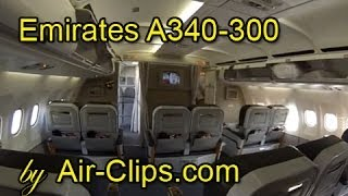 Emirates Airlines A340-300 (RARE) Lusaka and Harare incl all cabins! [AirClips FullFlight series]