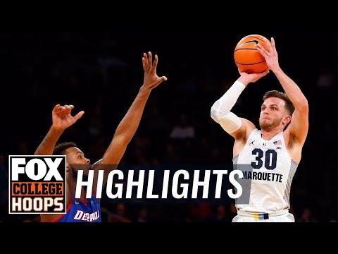 Marquette vs DePaul | 2018 Big East Tournament | Highlights | FOX COLLEGE HOOPS