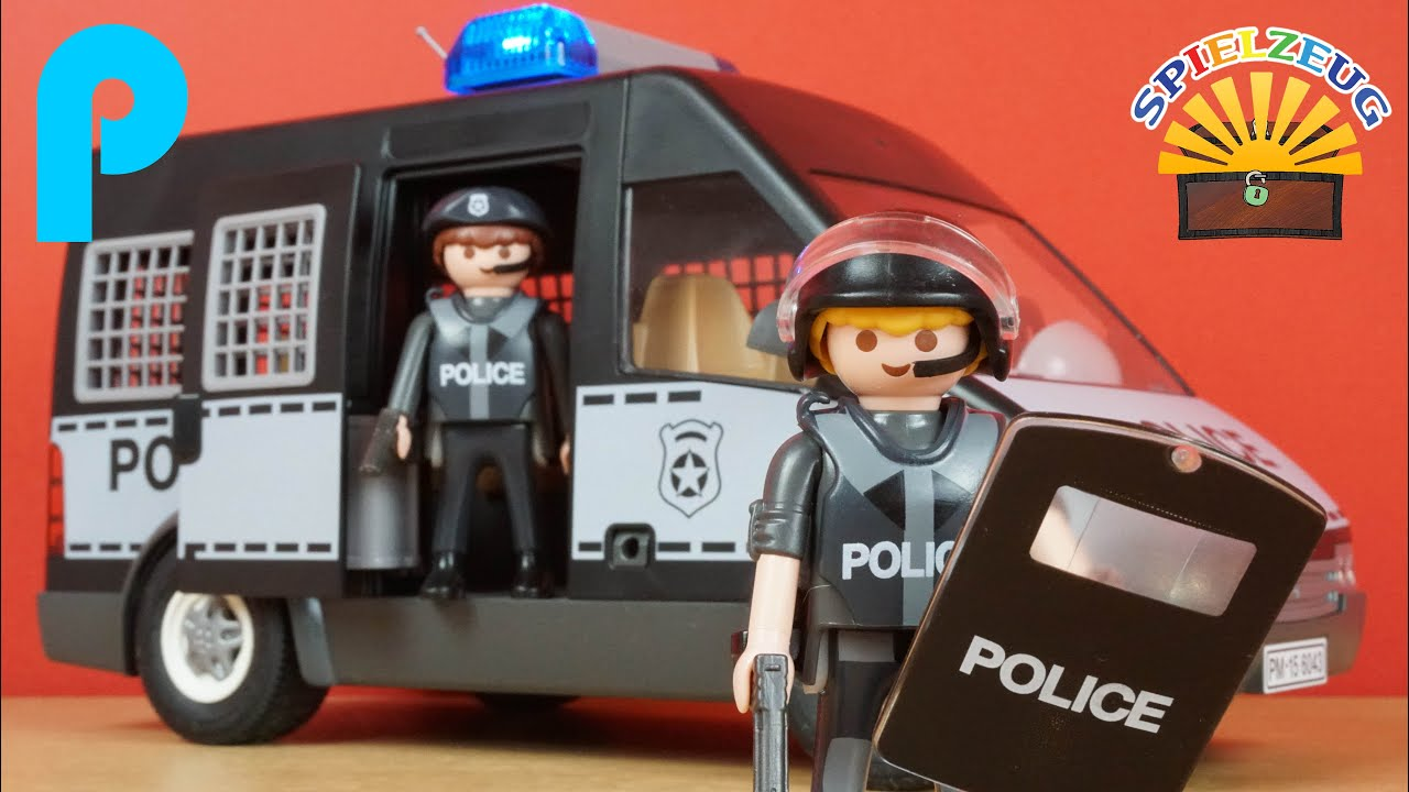 mannschaftswagen der polizei sek 6043 playmobil berfall. Black Bedroom Furniture Sets. Home Design Ideas