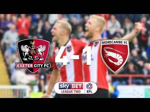 Exeter City 4 Morecambe 1 (30/9/17) EFL Sky Bet League 2 Highlights