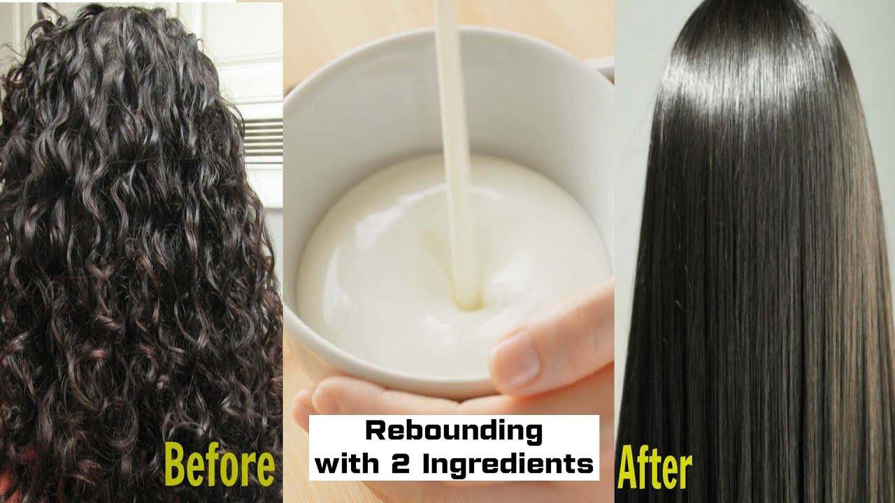 How to get permanent Straight Hair at home without Straightener Naturally Treatment