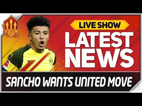 SANCHO'S MAN UTD TRANSFER HINT! Man Utd News
