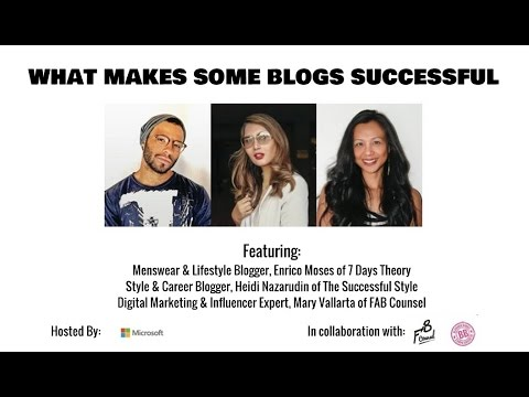 What Makes Some Blogs Successful - Part 1