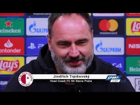 Die PK von Slavia Prag vor dem BVB-Spiel mit Trainer Jindrich Trpisovsky und Spieler Tomas Soucek.