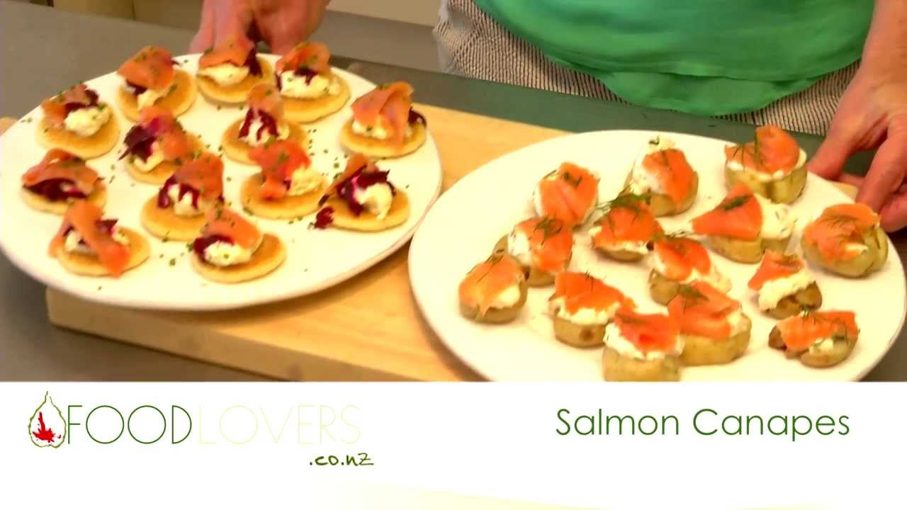 Salmon Canapes - YouTube