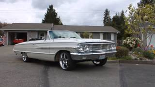 1964 Ford Galaxie 500 Convertible For Sale - Mild Custom Built 390 MVI 6240