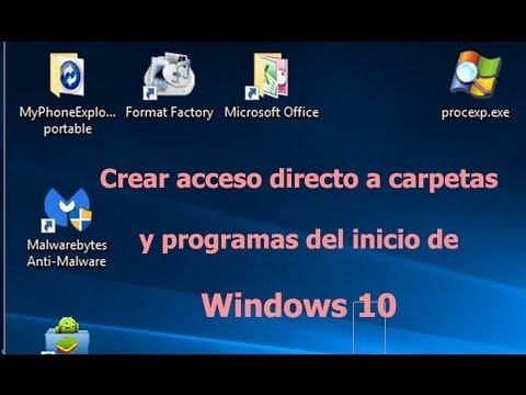 Crear acceso directo de Programas de Inicio en Windows 10