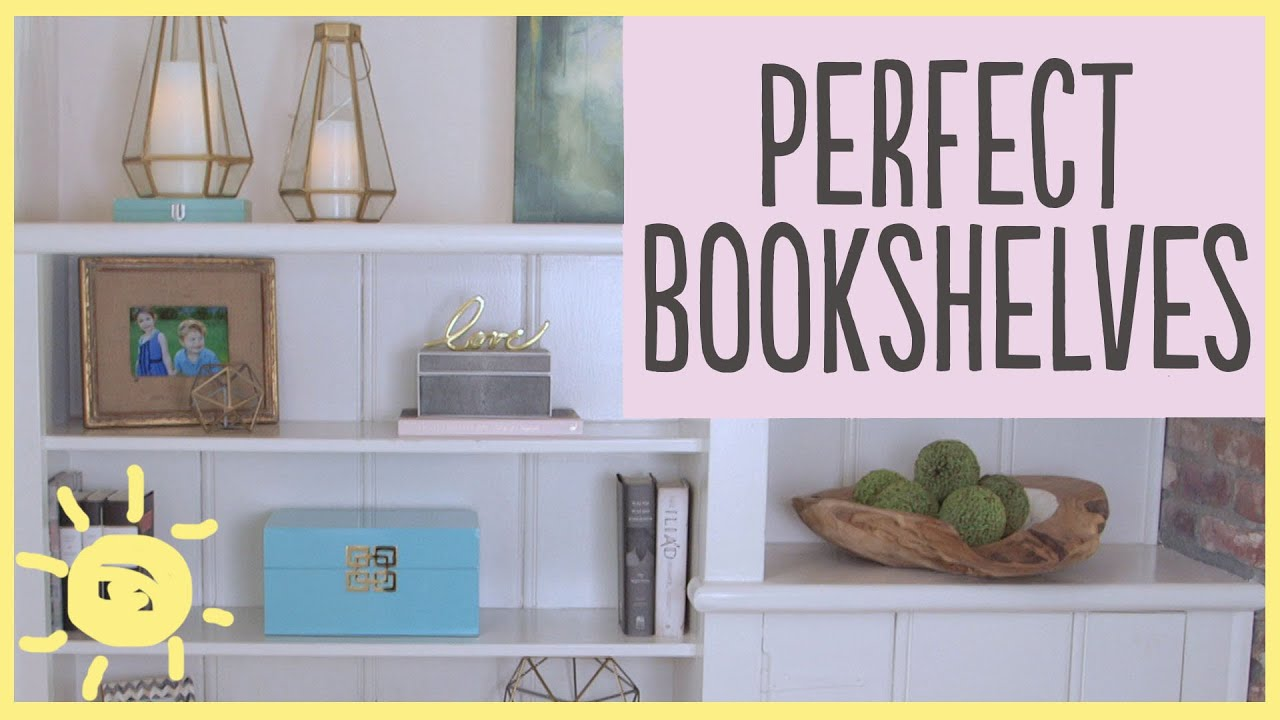TIPS | How To Style A Bookshelf (5 Easy Steps!!)   YouTube