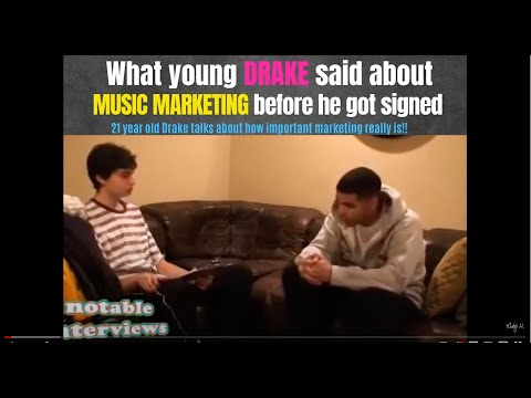 WHAT YOUNG DRAKE SAID ABOUT MUSIC MARKETING BEFORE HE GOT SIGNED!