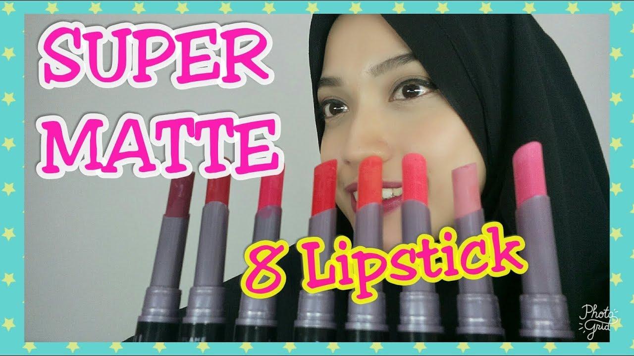 8 Lipstick Super Matte Oriflame Indonesia Youtube