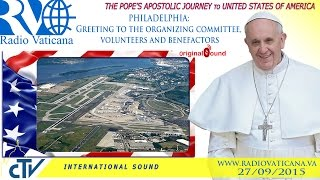 Pope Francis in the USA - Greetings and Farewell Ceremony