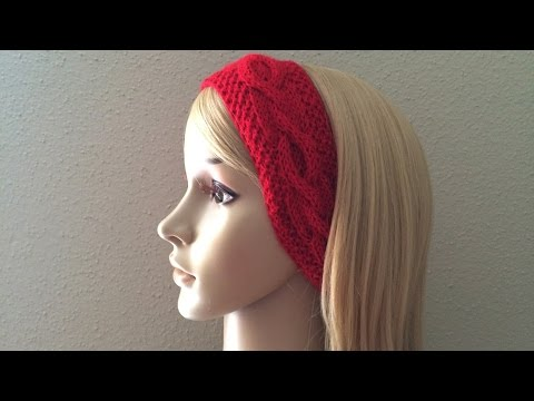 How To Knit A Cable Plaited Headband, Lilu's Handmade Corner Video # 46