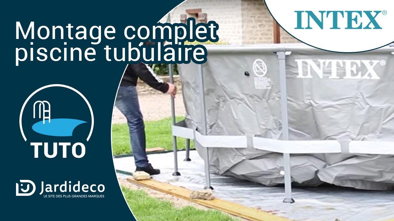 montage piscine tubulaire intex 28312 tuto bonus. Black Bedroom Furniture Sets. Home Design Ideas