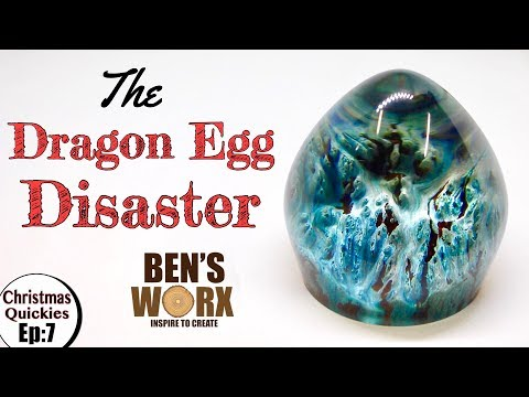 Making a Resin Dragon Egg from Burl and Epoxy