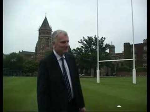 Patrick Derham kicks for Future Hope at Rugby School
