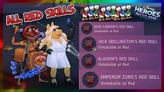Animal, Miss Piggy - ALL RED SKILLS REVIEW - Disney Heroes Battle Mode