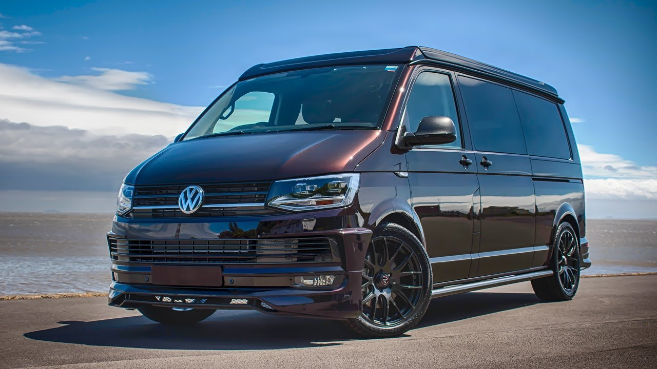 vw t6 campervan blackberry metallic black leather. Black Bedroom Furniture Sets. Home Design Ideas