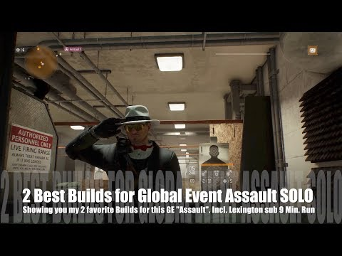 """The Division 1.7 - 2 best SOLO Builds for Global Event GE """"Assault"""" to farm - Lexington in 9 minutes"""