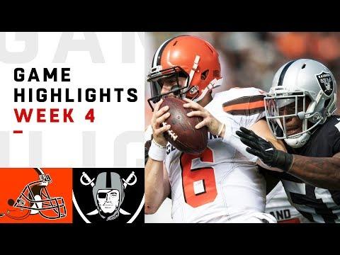Browns vs. Raiders Week 4 Highlights   NFL 2018