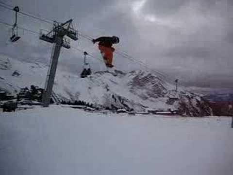 snowboard jump in avoriaz