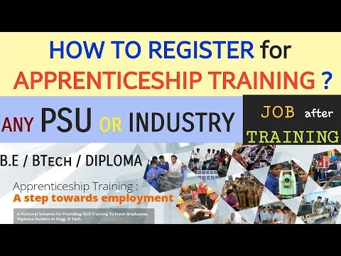 HOW TO REGISTER for APPRENTICESHIP TRAINING – any PSU or INDUSTRY  ~ JOB EXPERIENCE, EARNINGS & MORE