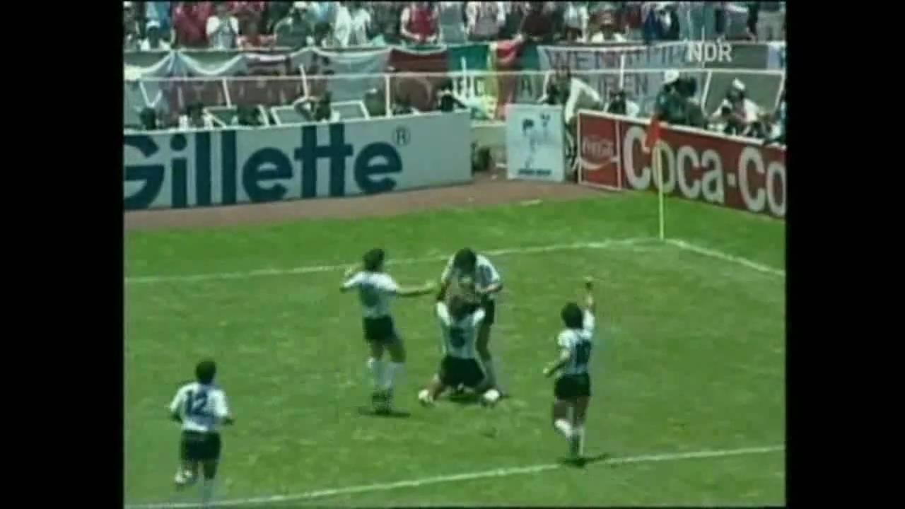 Fussball WM 1986 Deutschland - Argentinien (Original Rolf Kramer)
