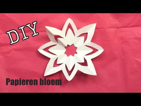 ♥︎  #DIY : BLOEM KNUTSELEN / MAKEN VAN 1 PAPIER, VOOR KINDEREN  ♥︎ Flower Of Paper, Craft Idea ♥︎ S)
