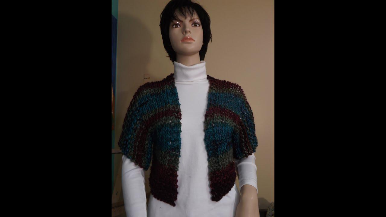 How to knit a shrug, bolero - with Ruby Stedman - YouTube
