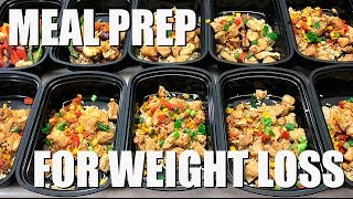 Meal Prep For Weight Loss | Mexican Rice Bowls and Salmon with Roasted Potatoes and Veggies