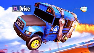 DRIVE THE BATTLE BUS!! (Fortnite x Rocket League)