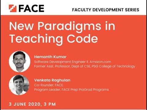 New Paradigms In Teaching Code