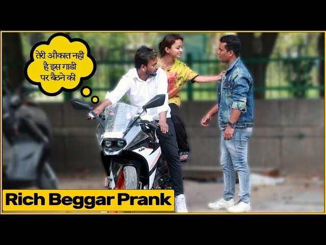 Rich Beggar With Gold Digger Prank By Simran Verma | Chik ...