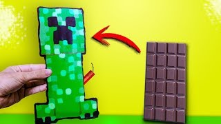 MINECRAFT: CREEPER DE CHOCOLATE EN LA VIDA REAL 😱 ¿COMO EXPLOTARÁ?