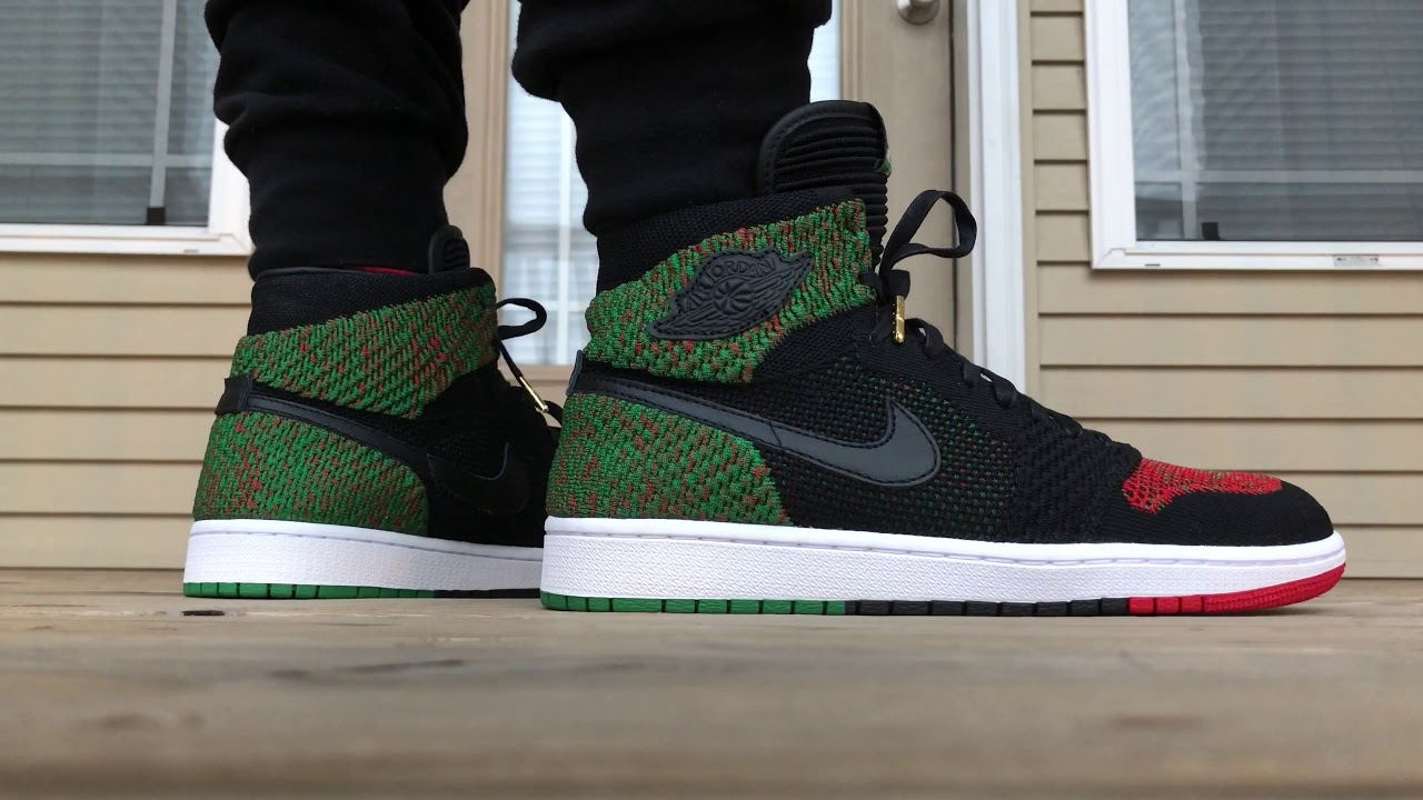 2018 Air Jordan 1 Flyknit Black History Month ON FOOT LOOK!