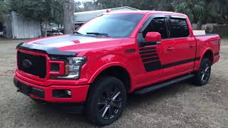 2018 Ford F-150 special edition fx4 5.0 custom race red leveled 2.5 inches