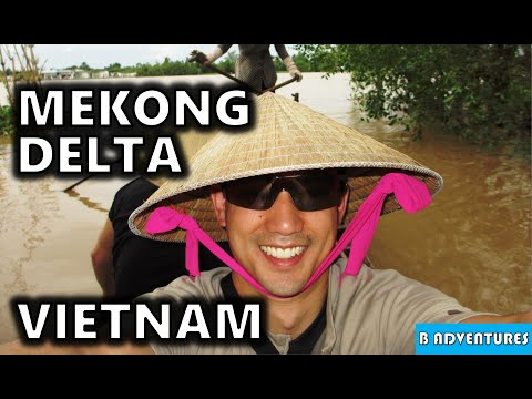Mekong Delta Lunch, Jungle Walk, Row Boat, Vietnam Vlog Ep7