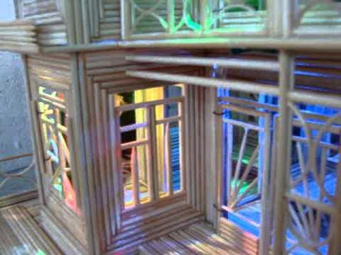 mô hình nhà bằng tăm
