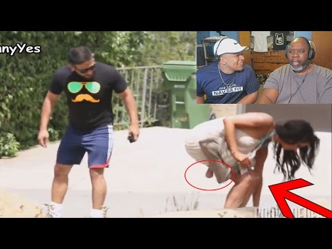 Dad Reacts to Girls with Balls Prank!