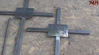 як зробити хрест на могилу своїми руками з металу розміри