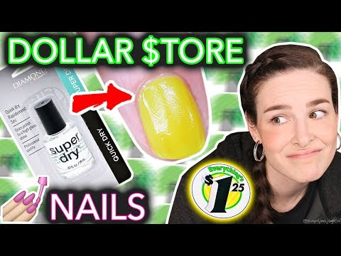 Dollar Store Nail Art Challenged (when the taco doesn't dry)