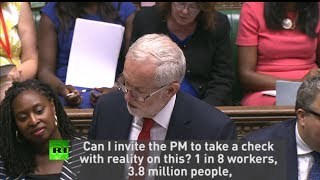 "Corbyn: ""May, take a check with reality on poverty"""