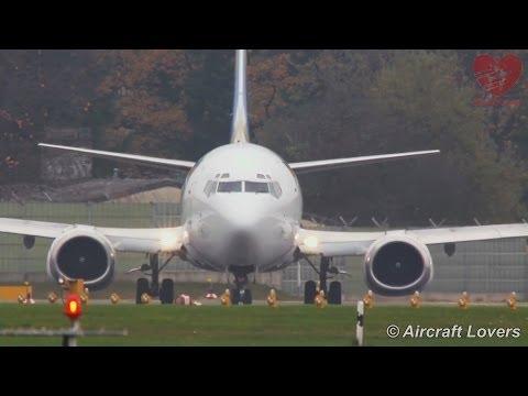Ukraine International Boeing 737-500 [UR-GAZ] Takeoff @ Berlin-Tegel 17.11.2013