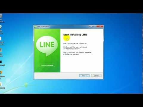 วิธีติดตั้ง+ใช้งานโปรแกรมLine
