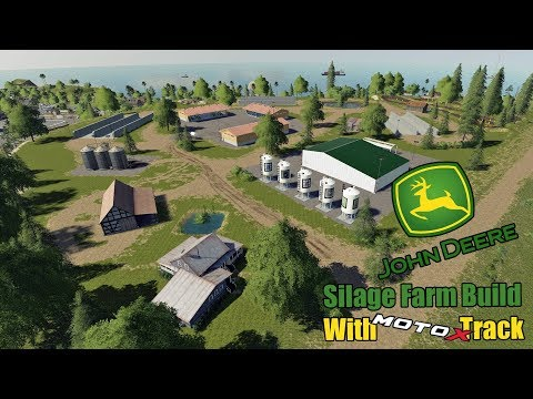 John Deere Silage Farm Build with MotoX Track - Timelapse - FS19