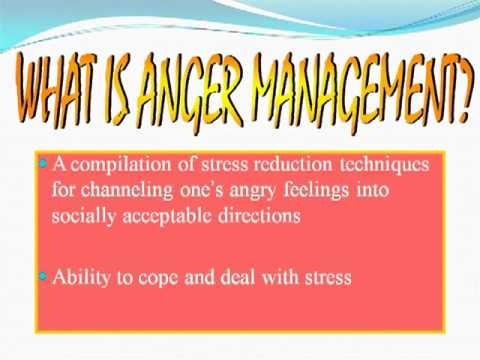 PPT Presentation On Anger Management