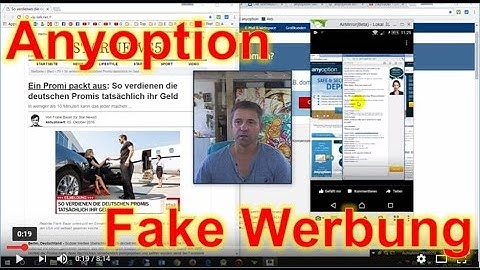 AnyOption Fake Webseite Vortäuschung durch Vip-Talk.net Facebook