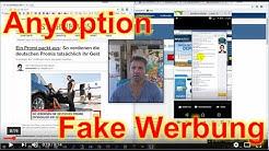 AnyOption Fake Webseite Vortäuschung durch Vip-Talk.net Facebook